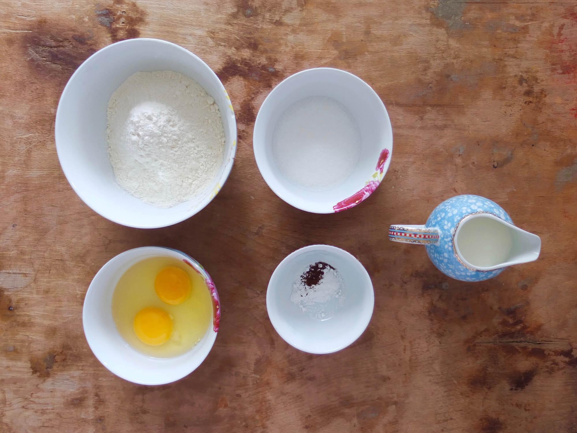 Zutaten Klassische Pancakes - La Crema Patisserie Foodblog Backblog