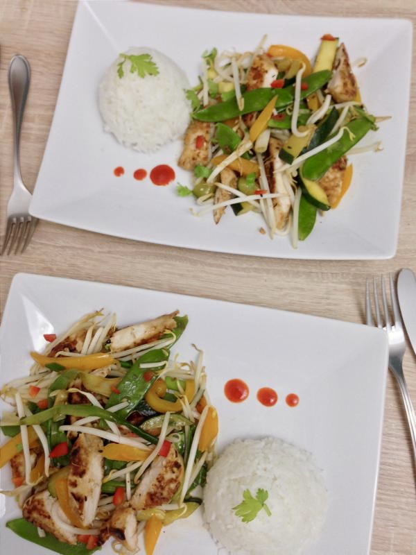 Vietnamesisches Hühnchen mit Zitronengras - La Crema Patisserie Foodblog Backblog