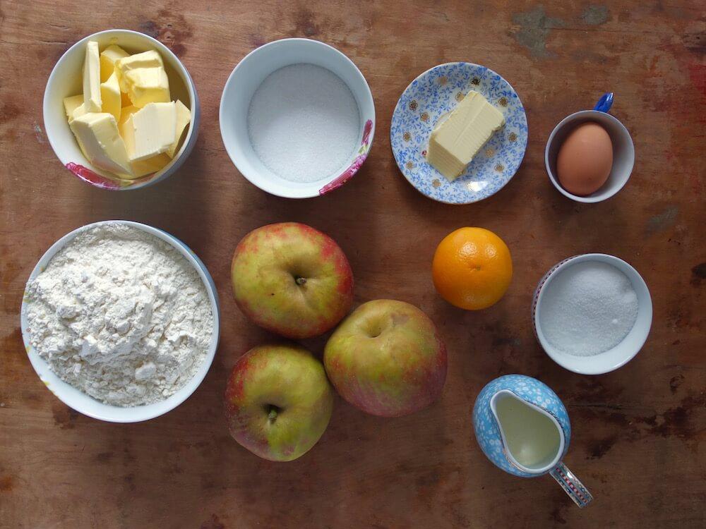 Zutaten für Apple Pie mit Karamell - La Crema Patisserie Foodblog Backblog