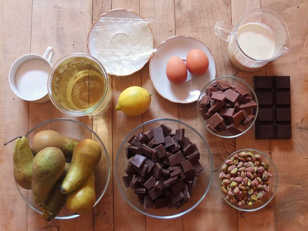 Zutaten für die Birne-Helene-Torte | La Crema Patisserie Food- und Backblog