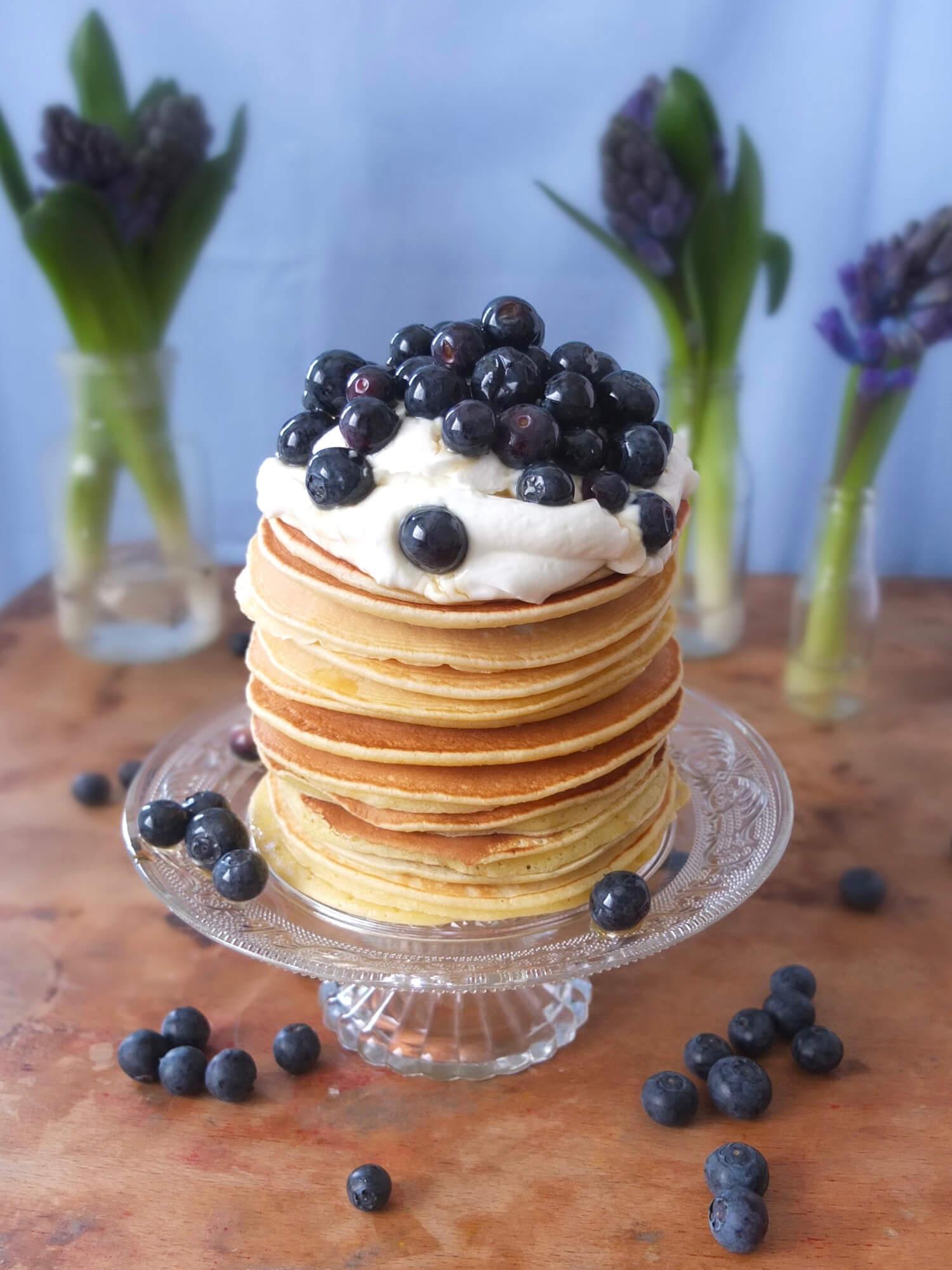 Klassische Pancakes - La Crema Patisserie Foodblog Backblog