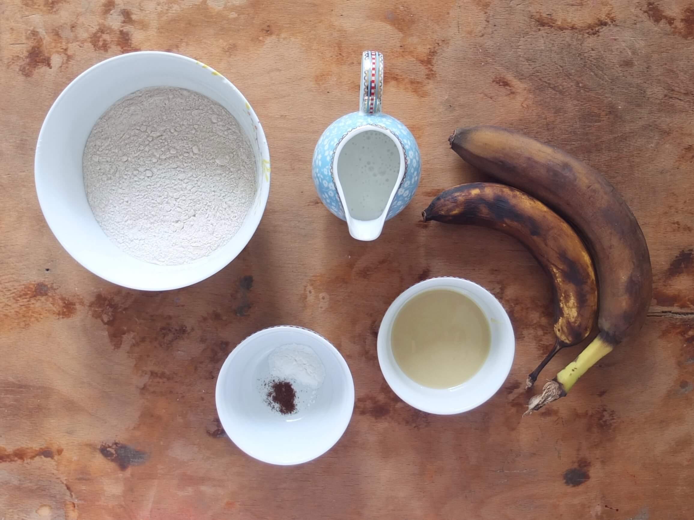 Zutaten Vegane Buchweizen-Bananen-Pancakes - La Crema Patisserie Foodblog Backblog