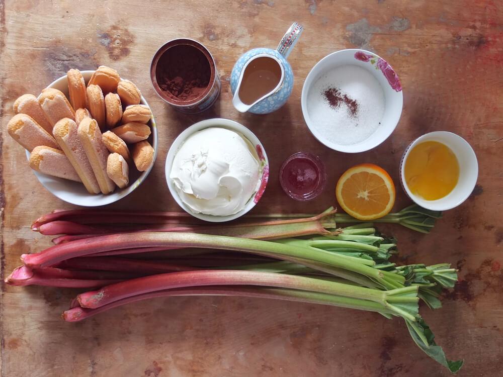 Zutaten Rhabarber-Tiramisu - La Crema Patisserie Foodblog Backblog