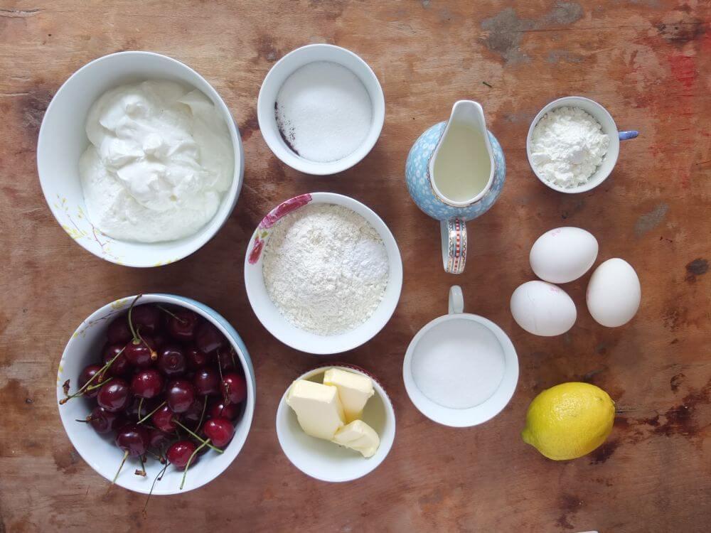 Zutaten Käsekuchen mit Kirschen - La Crema Patisserie Foodblog Backblog