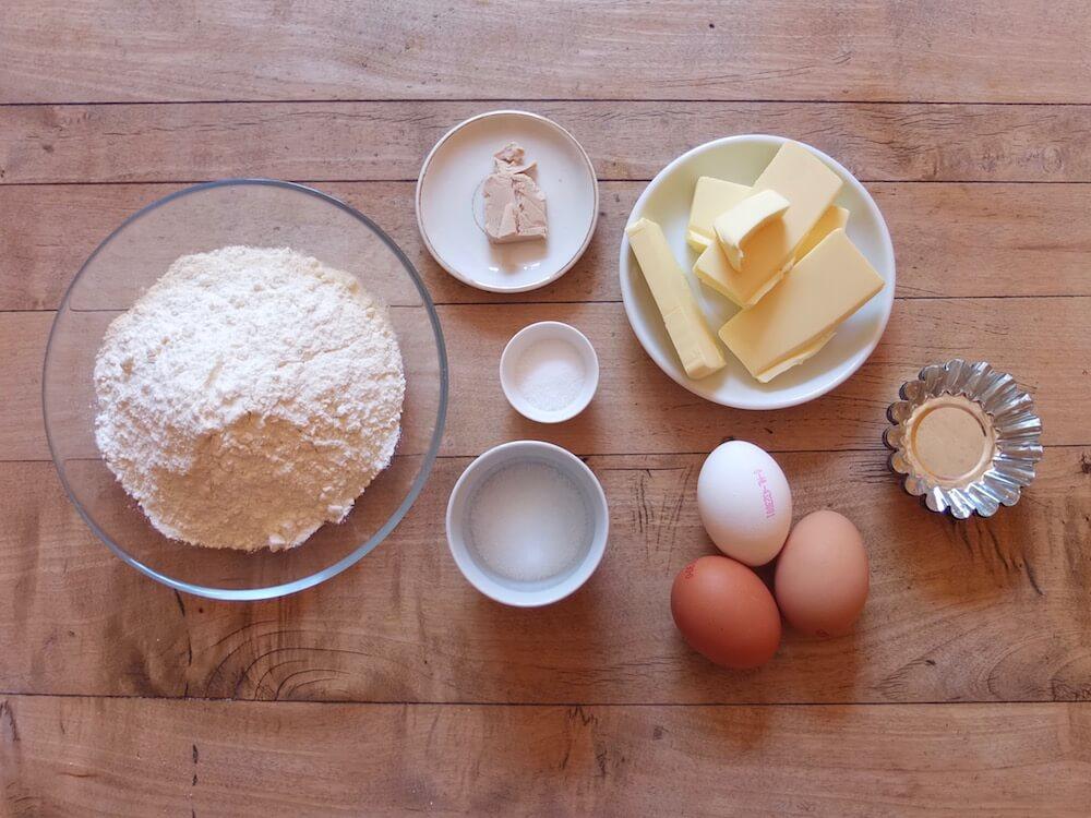 Zutaten Brioches - La Crema Patisserie Foodblog Backblog