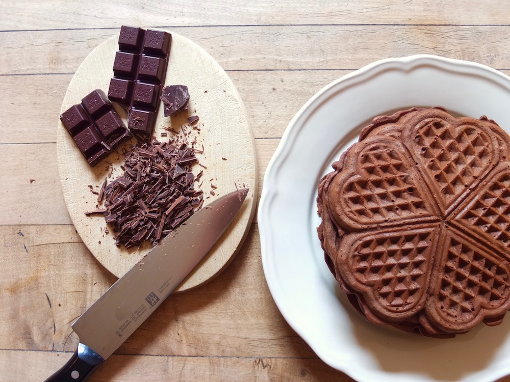 Schwarzwälder Kirschwaffeln - La Crema Patisserie Foodblog Backblog