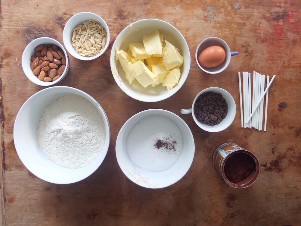 Zutaten Eulenkekse am Stiel   Owl Cookie Pops - La Crema Patisserie Fooblog Backblog