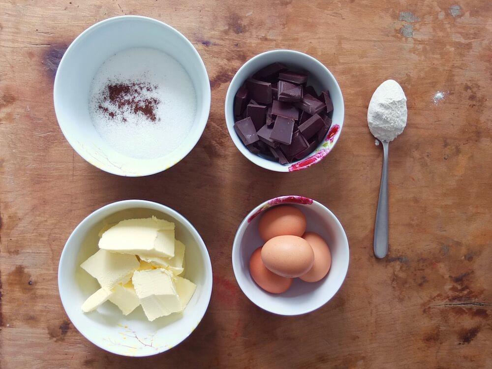 Zutaten Gâteau au Chocolat | Schokoladentarte - La Crema Patisserie Food- und Backblog
