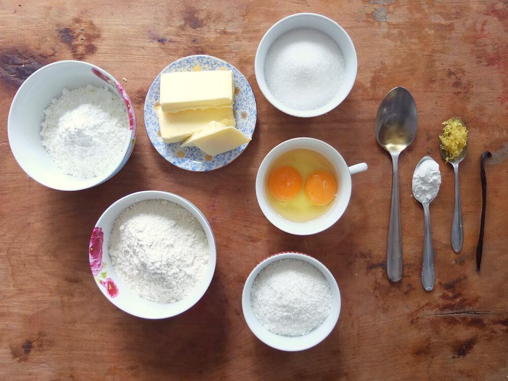 Zutaten für Alfajores   Plätzchen aus Südamerika - La Crema Patisserie Food- und Backblog