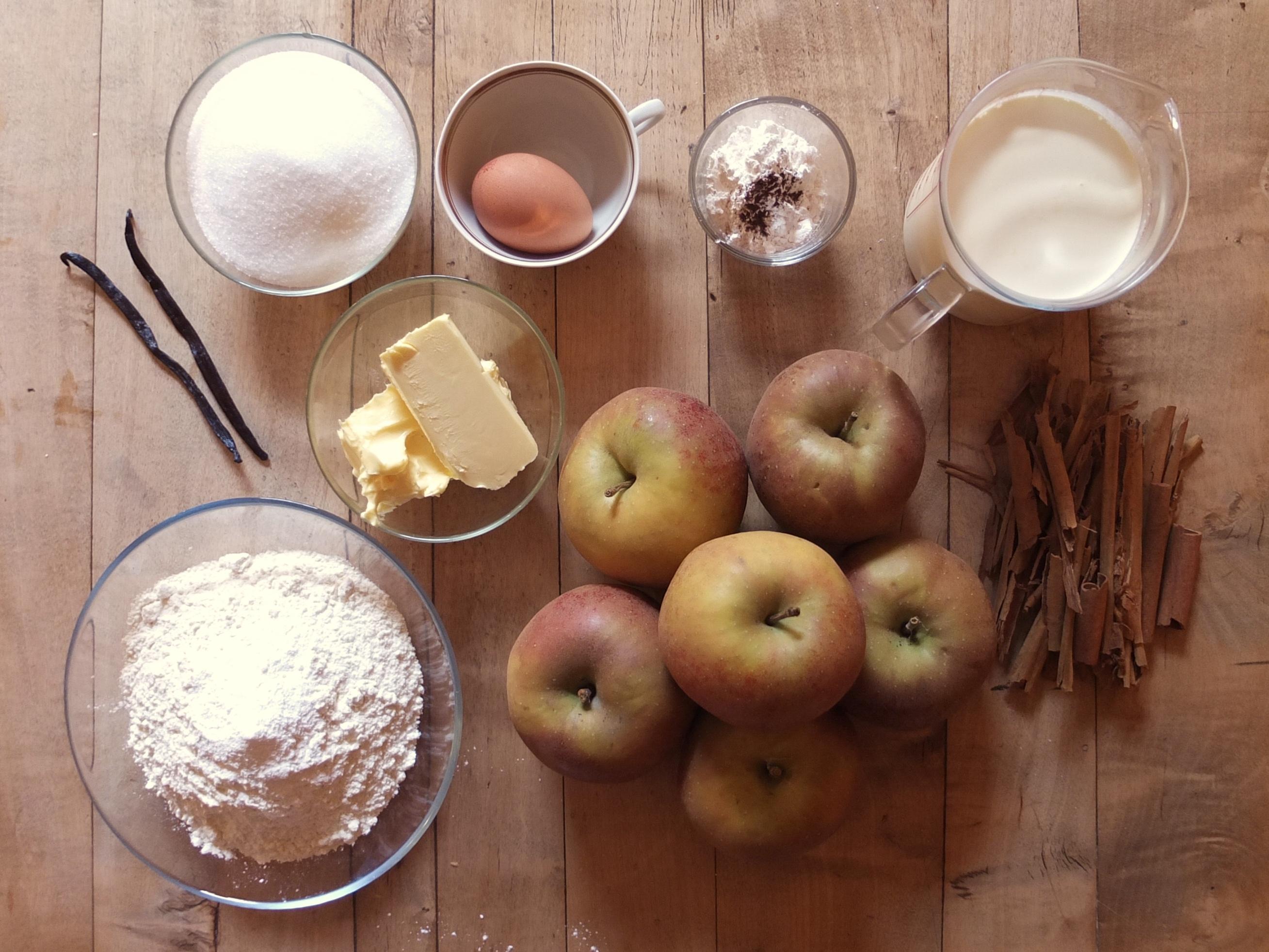 Zutaten für Bratapfelkuchen | La Crema Adventskalender - La Crema Patisserie Food- und Backblog
