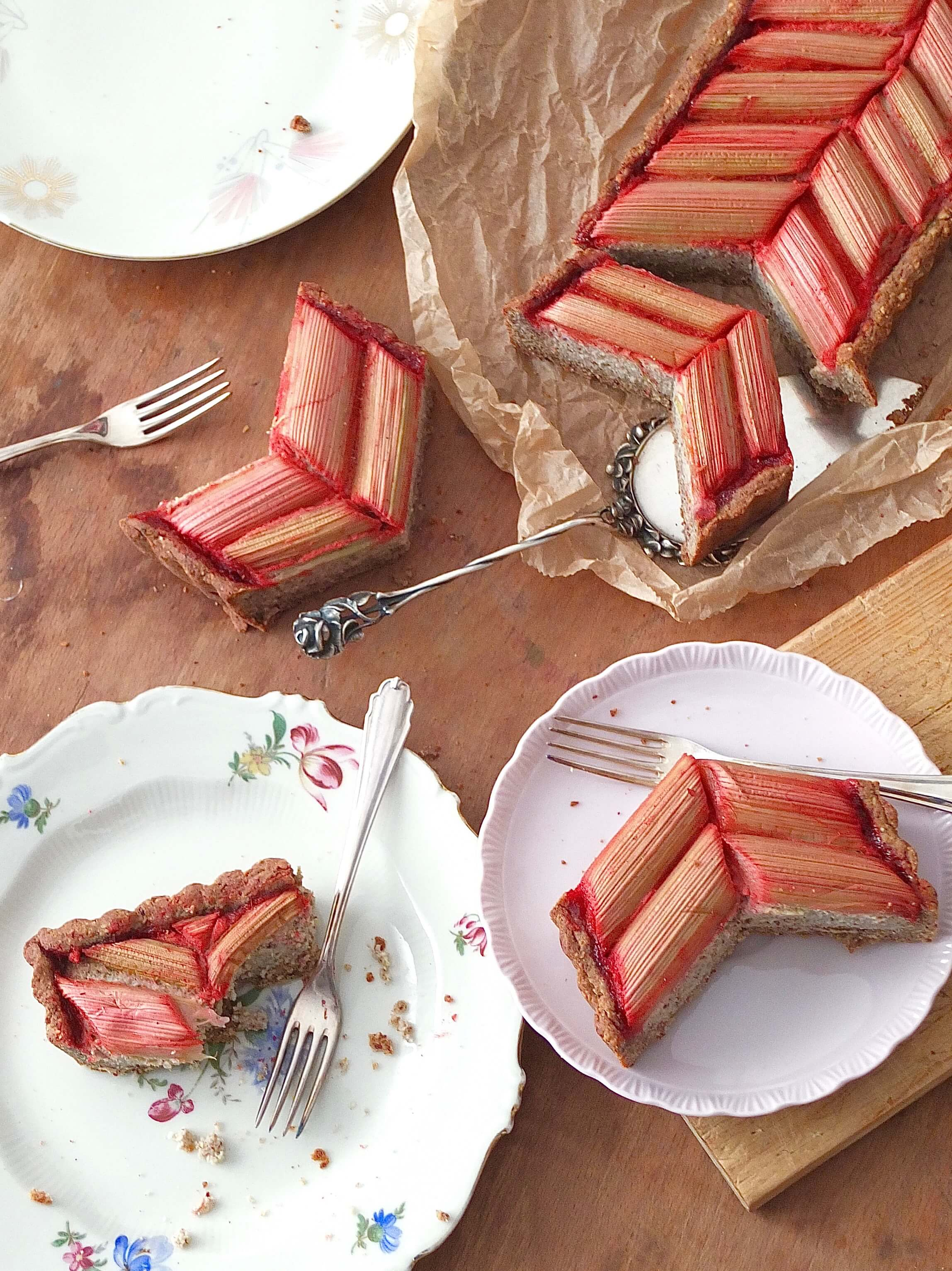 Gesunde Rhabarber Tarte | La Crema Patisserie Food- und Backblog