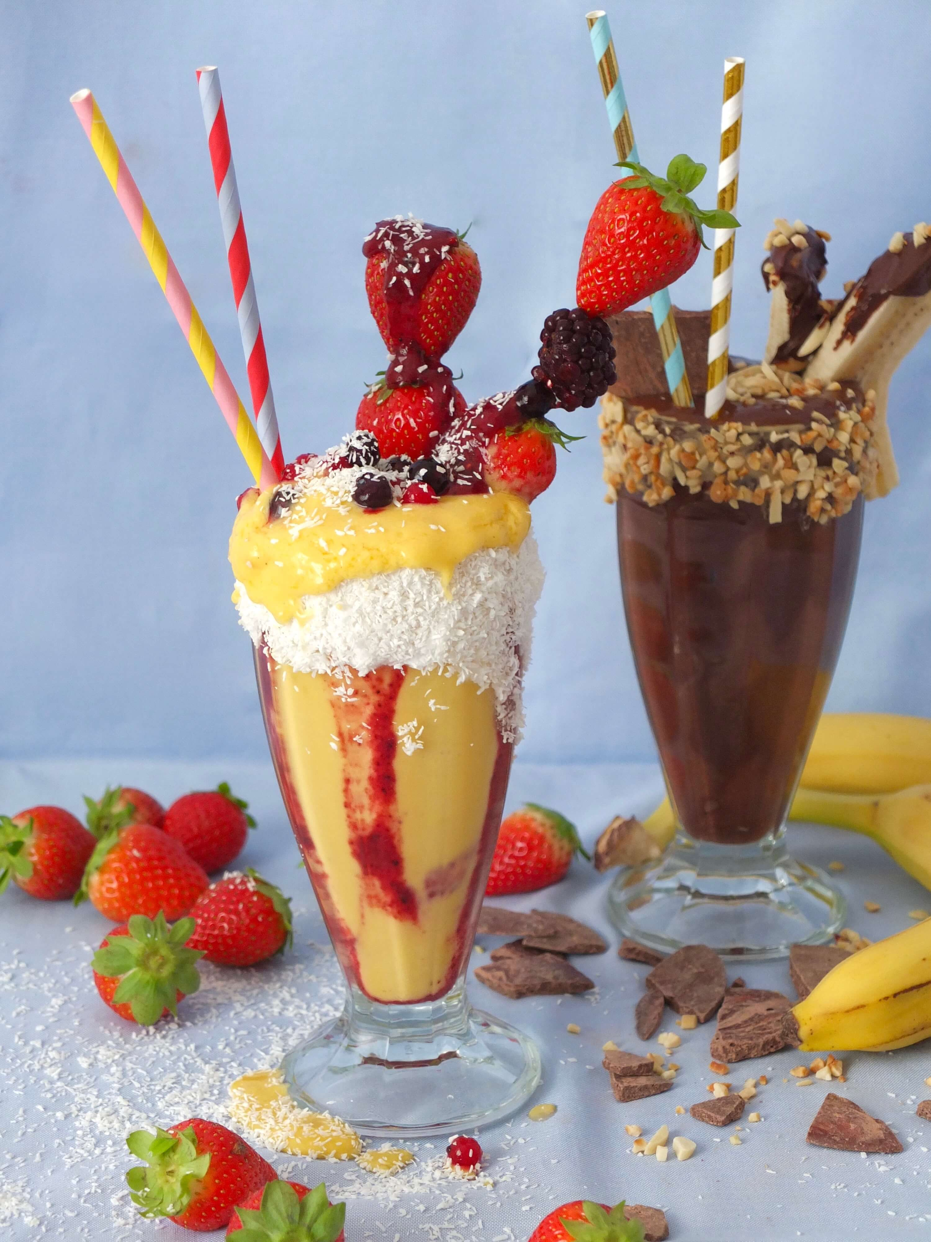 Gesunde Freakshakes | Vegane Milkshakes ohne Zucker | La Crema Patisserie Food- und Backblog