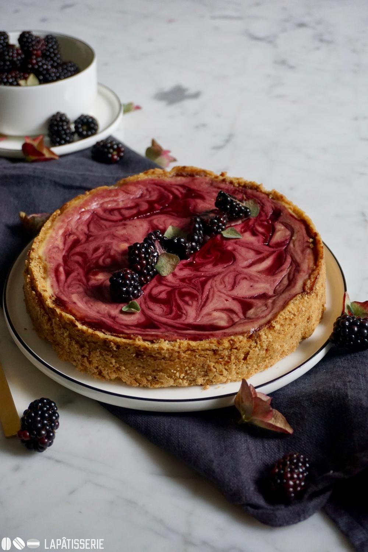 Brombeer Marble Cheesecake | Rezept