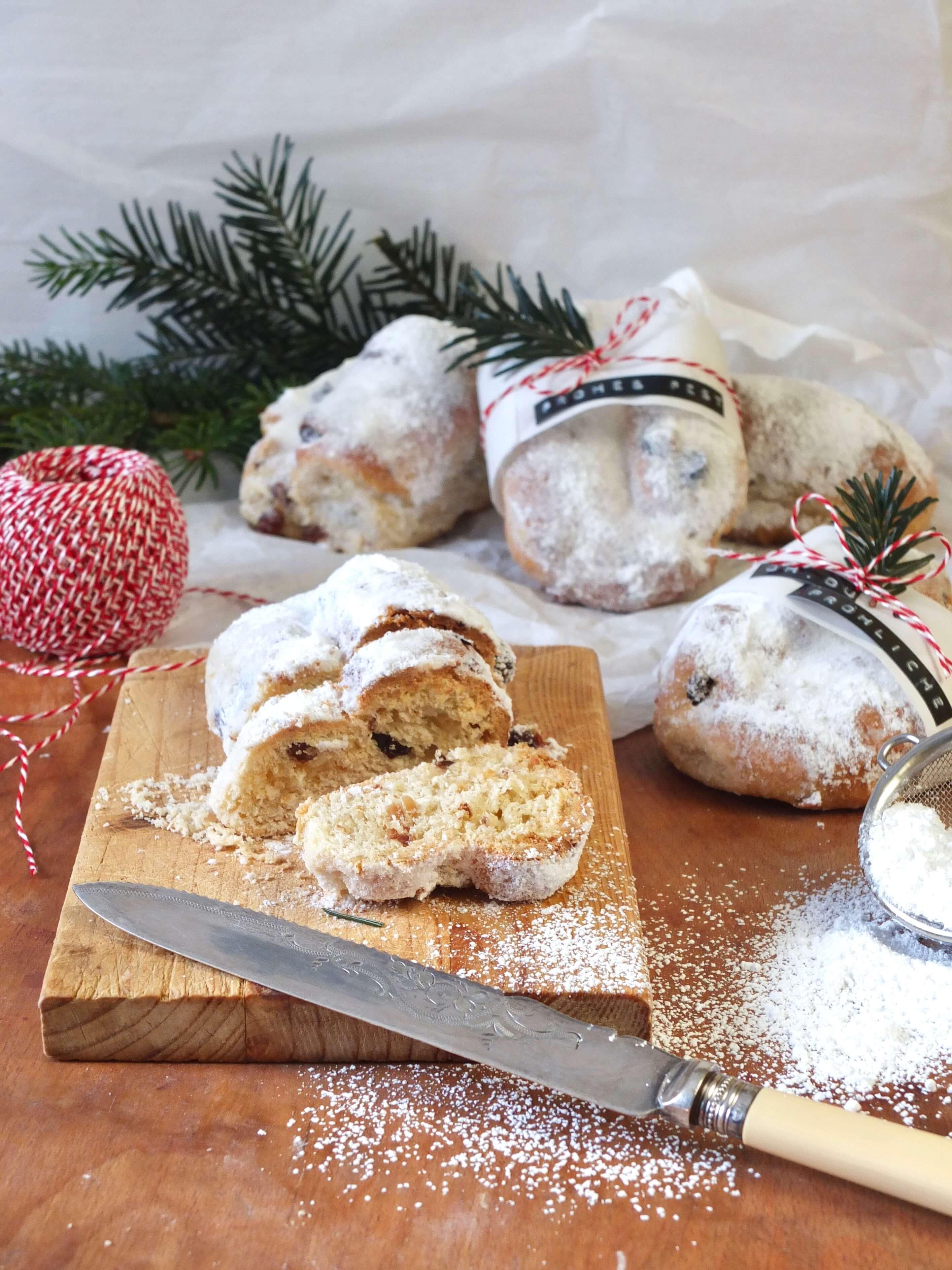 Mini Christstollen | Kleine Stollen zum Verschenken im Advent | Rezept