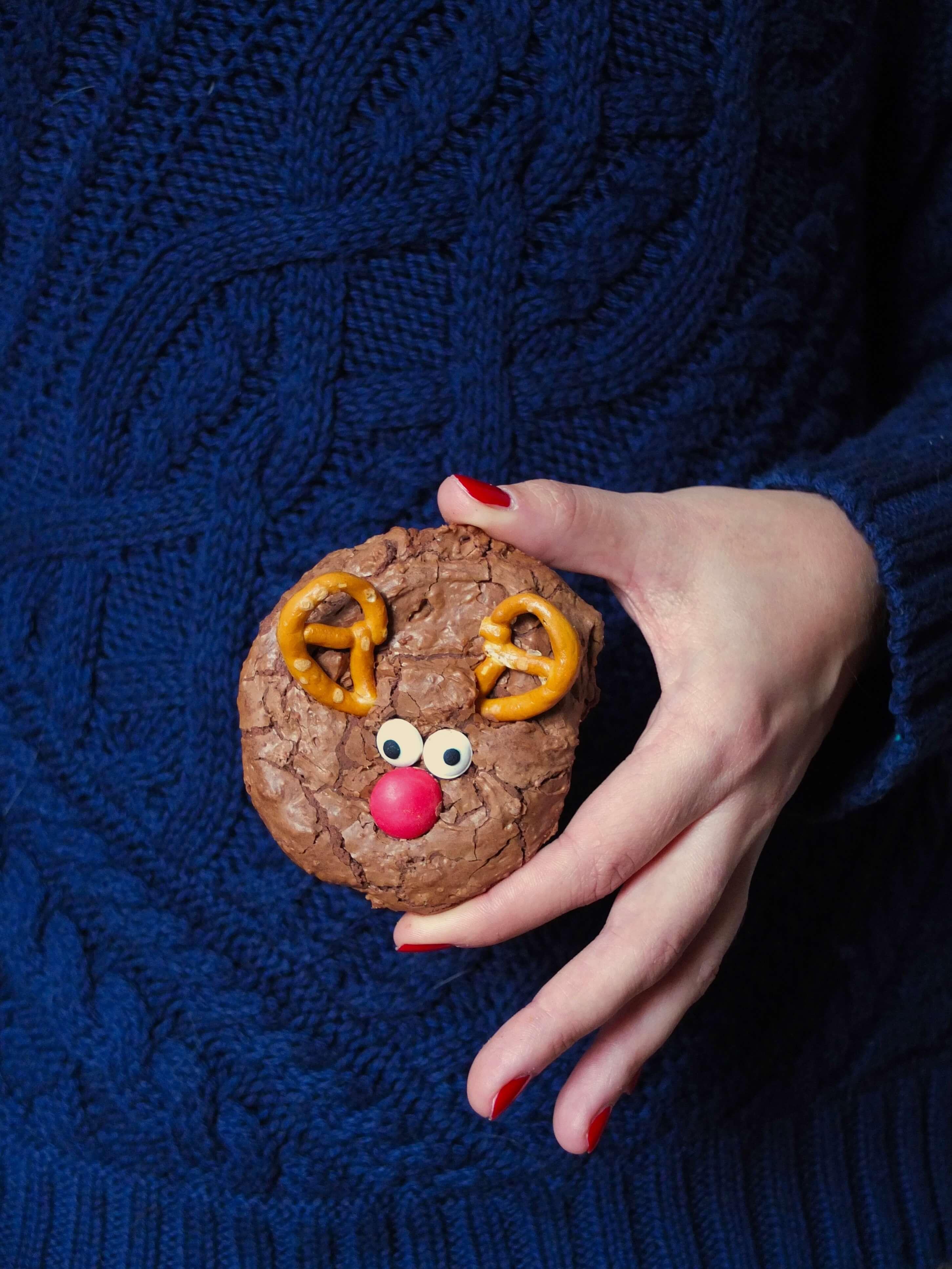 Schokoladige Rentier-Cookies   Rudolph auf dem Plätzchenteller   Rezept