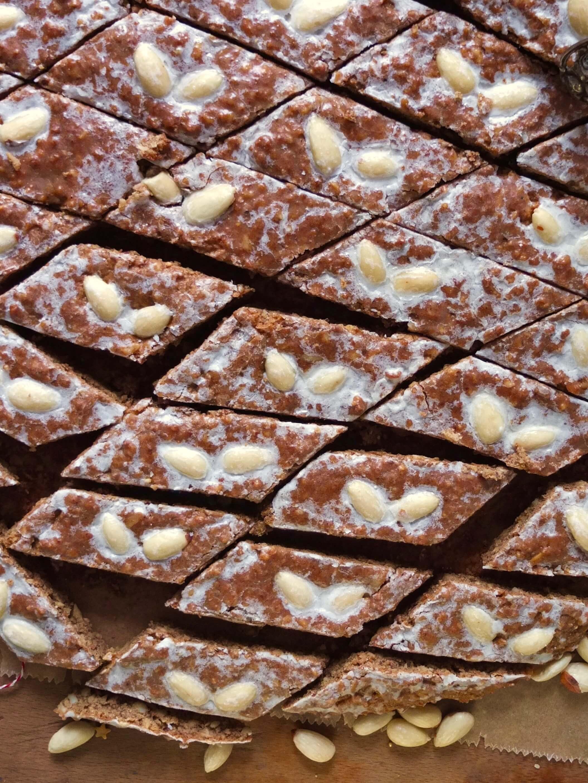 Nürnberger Elisenlebkuchen vom Blech   Rezept