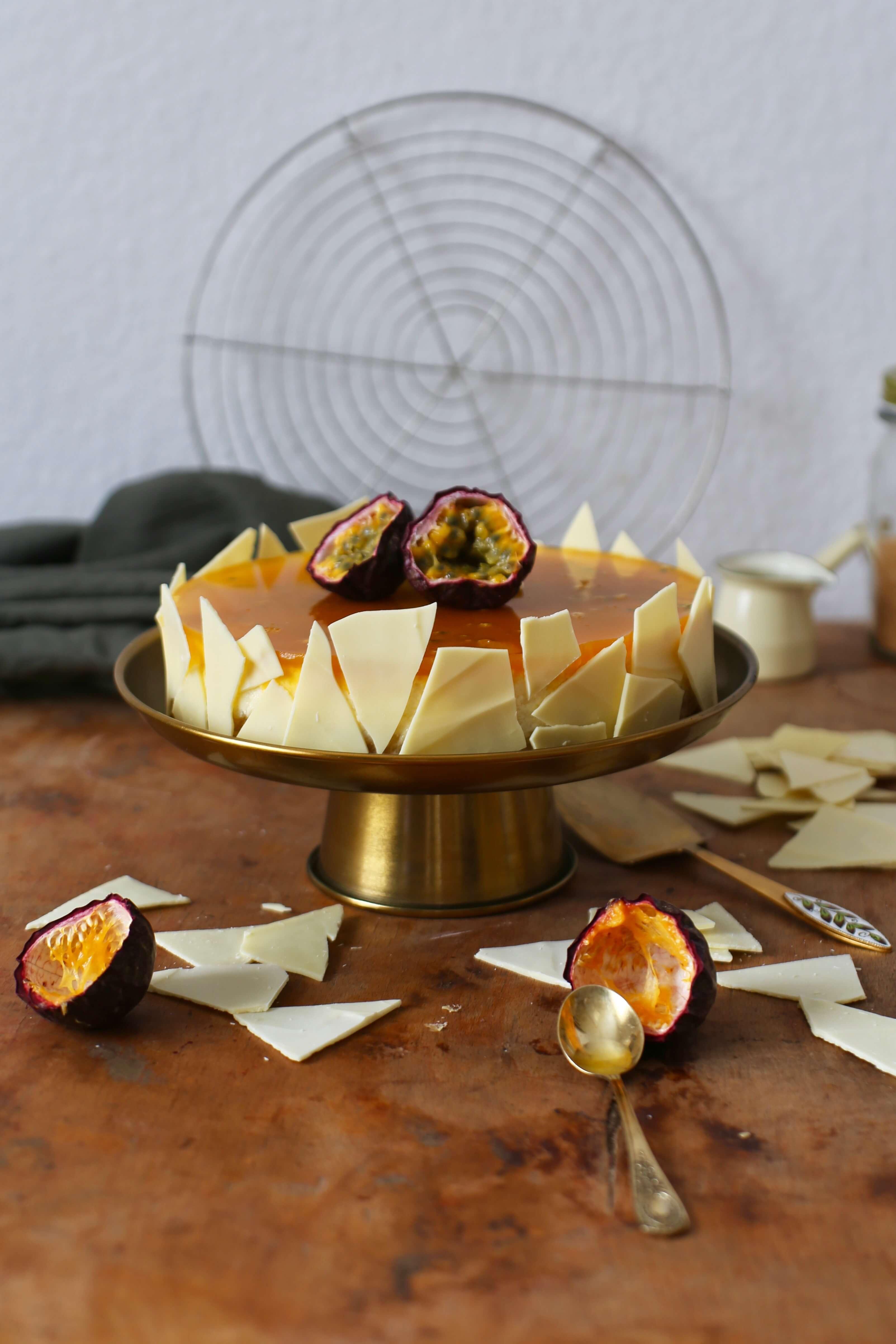 American Cheesecake mit Passionsfruchtspiegel | Rezept