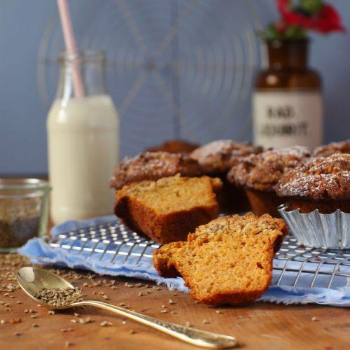 Rezept für Möhren-Muffins mit Anisstreuseln