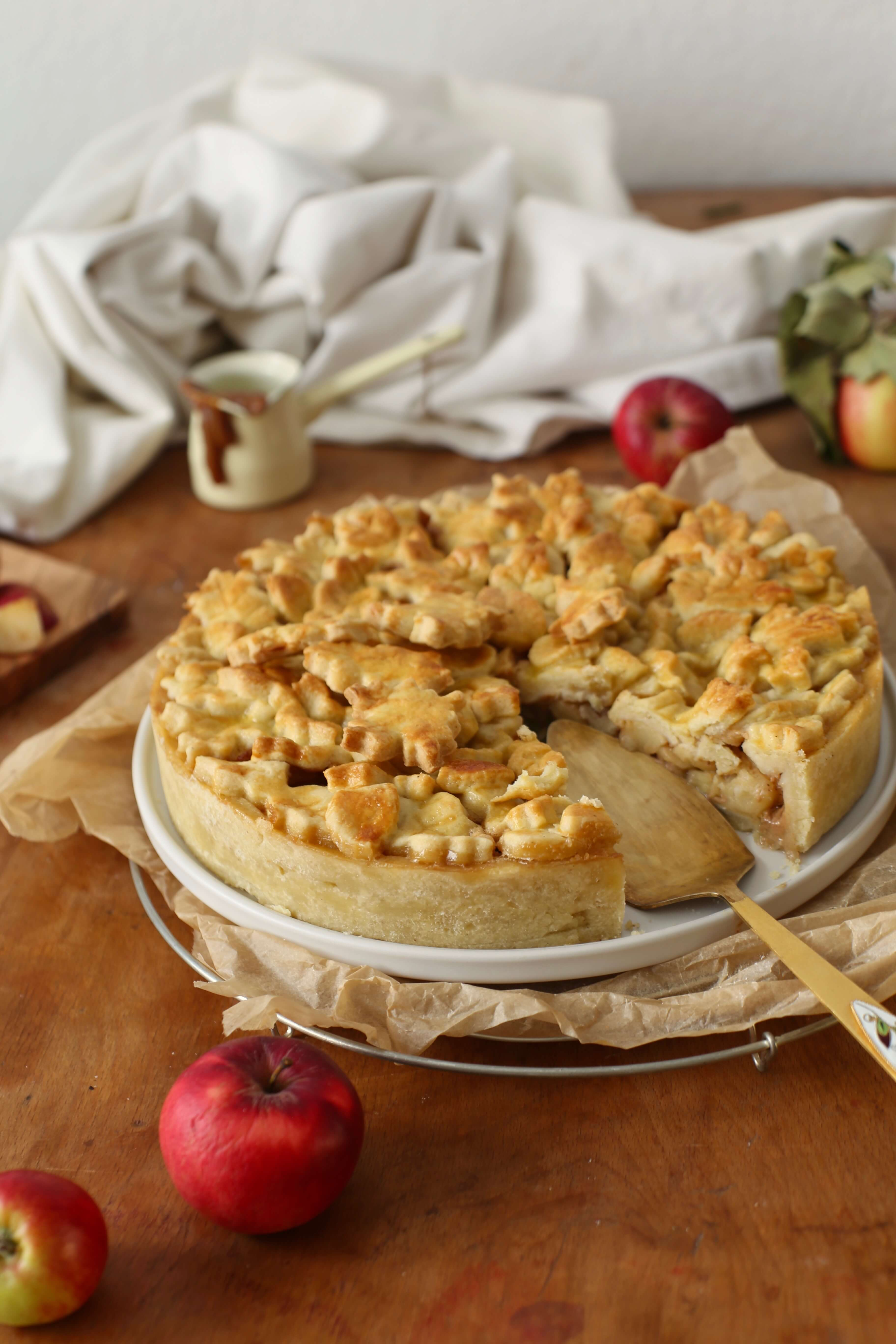 Apple Pie mit Karamell | Rezept