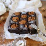 Walnuss Brownies mit Birnen   Rezept