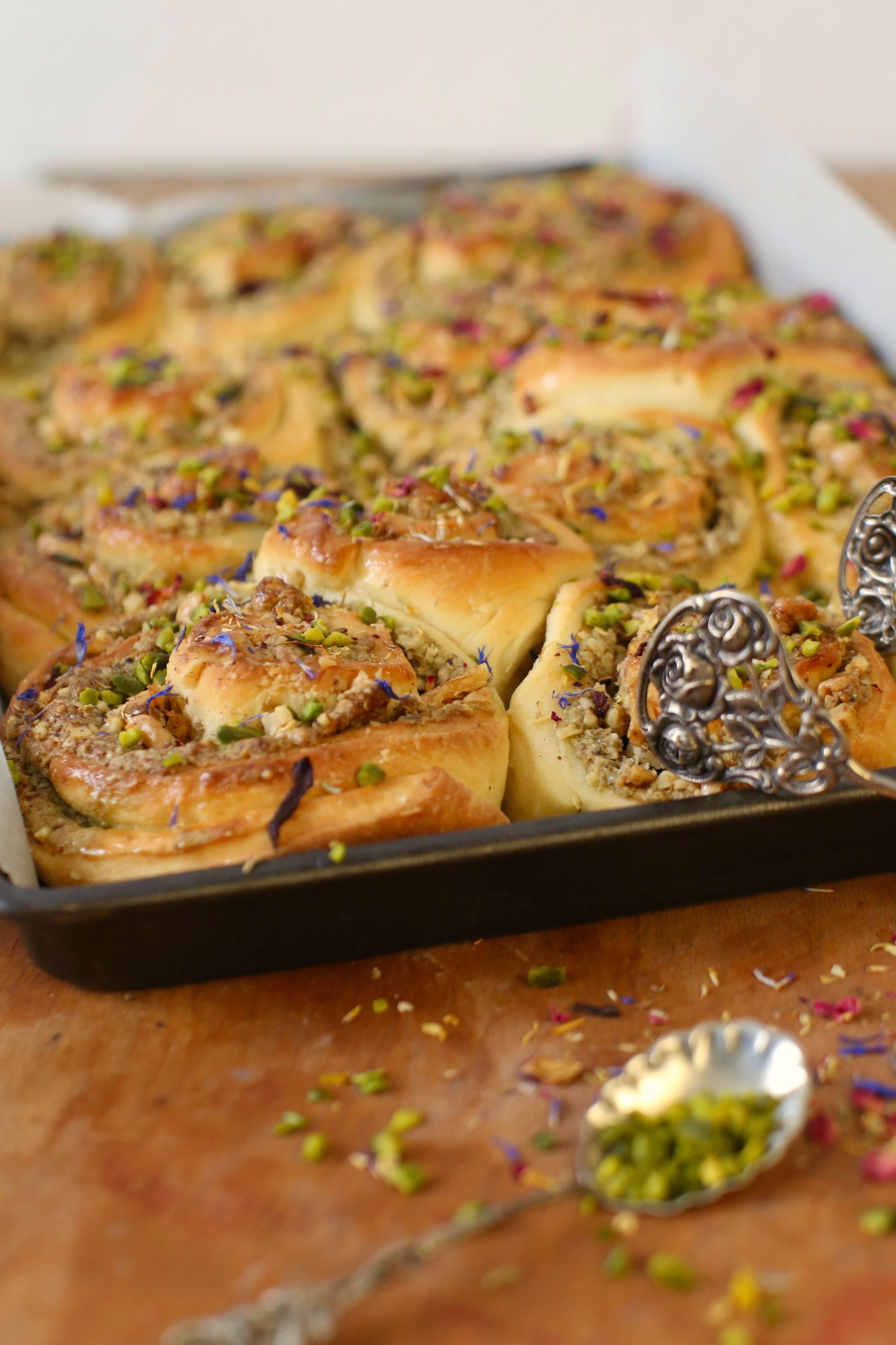 Baklava Schnecken mit Pistazien | Rezept