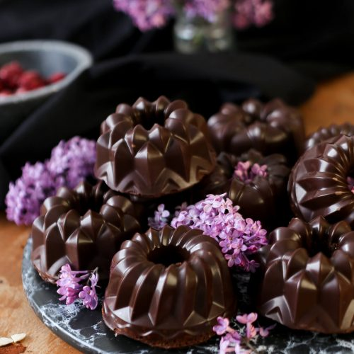 Haselnuss Schoko Mini Gugelhupf mit Kirschen | glutenfrei & lactosefrei | Rezept