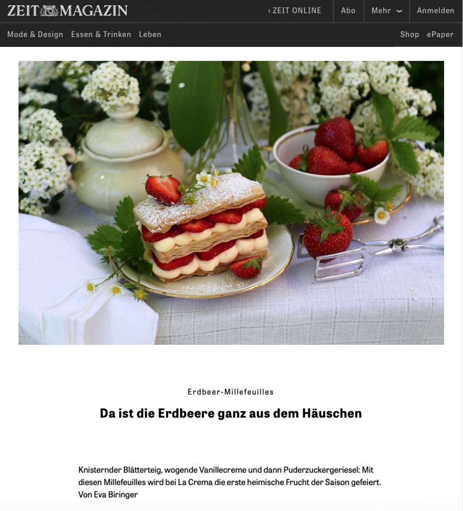Presse Feature im ZEIT Magazin