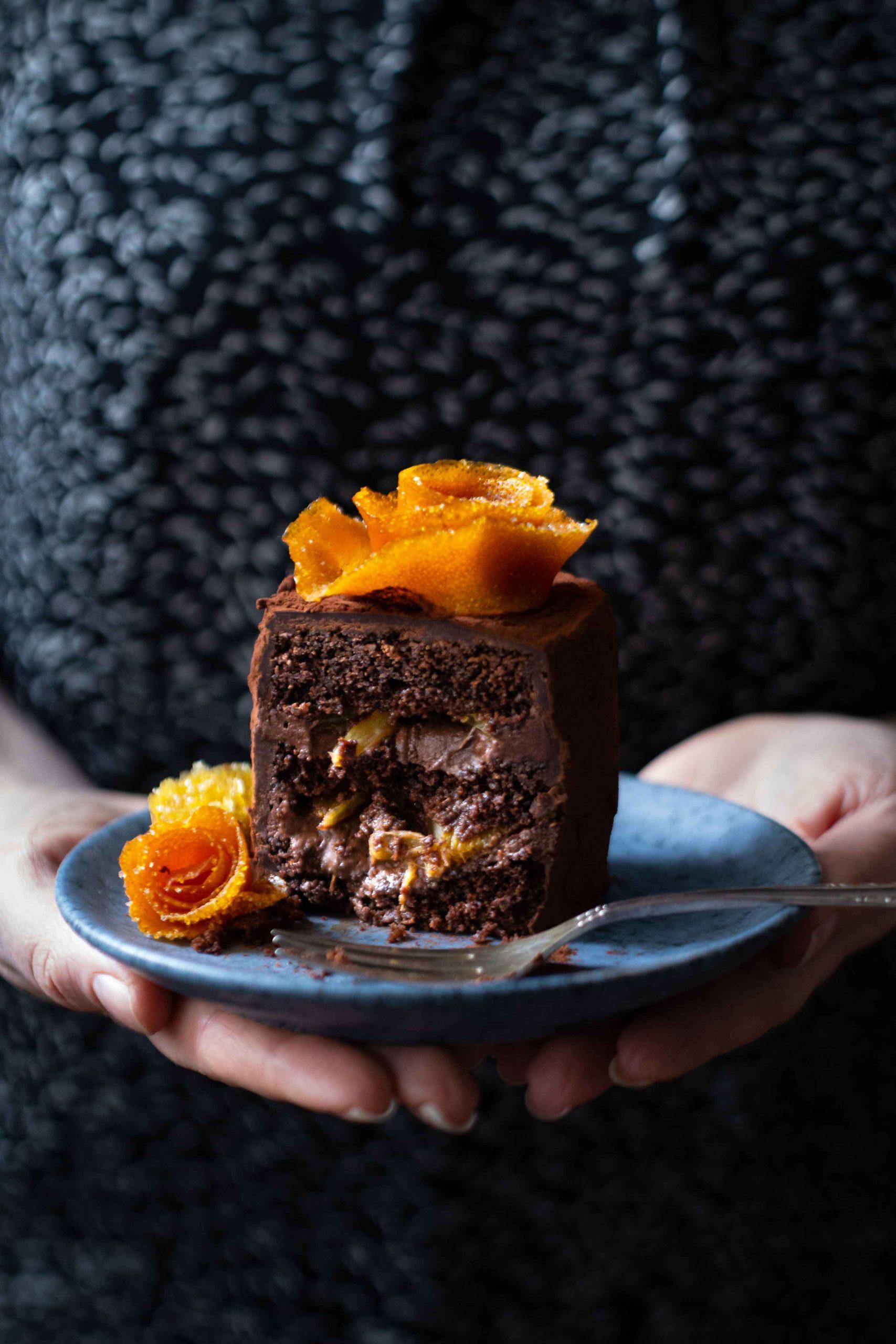 Schoko-Orangen-Törtchen   Rezept