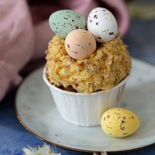 Carrot Cupcakes mit karamellisierten Walnüssen für Ostern | Rezept