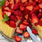Erdbeerboden mit Wiener Masse   Grundrezept für einen einfachen Biskuit mit frischen Erdbeeren