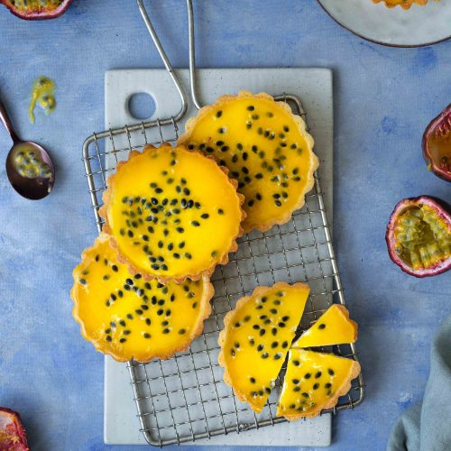 Maracuja-Cheesecake-Tartelettes | Rezept