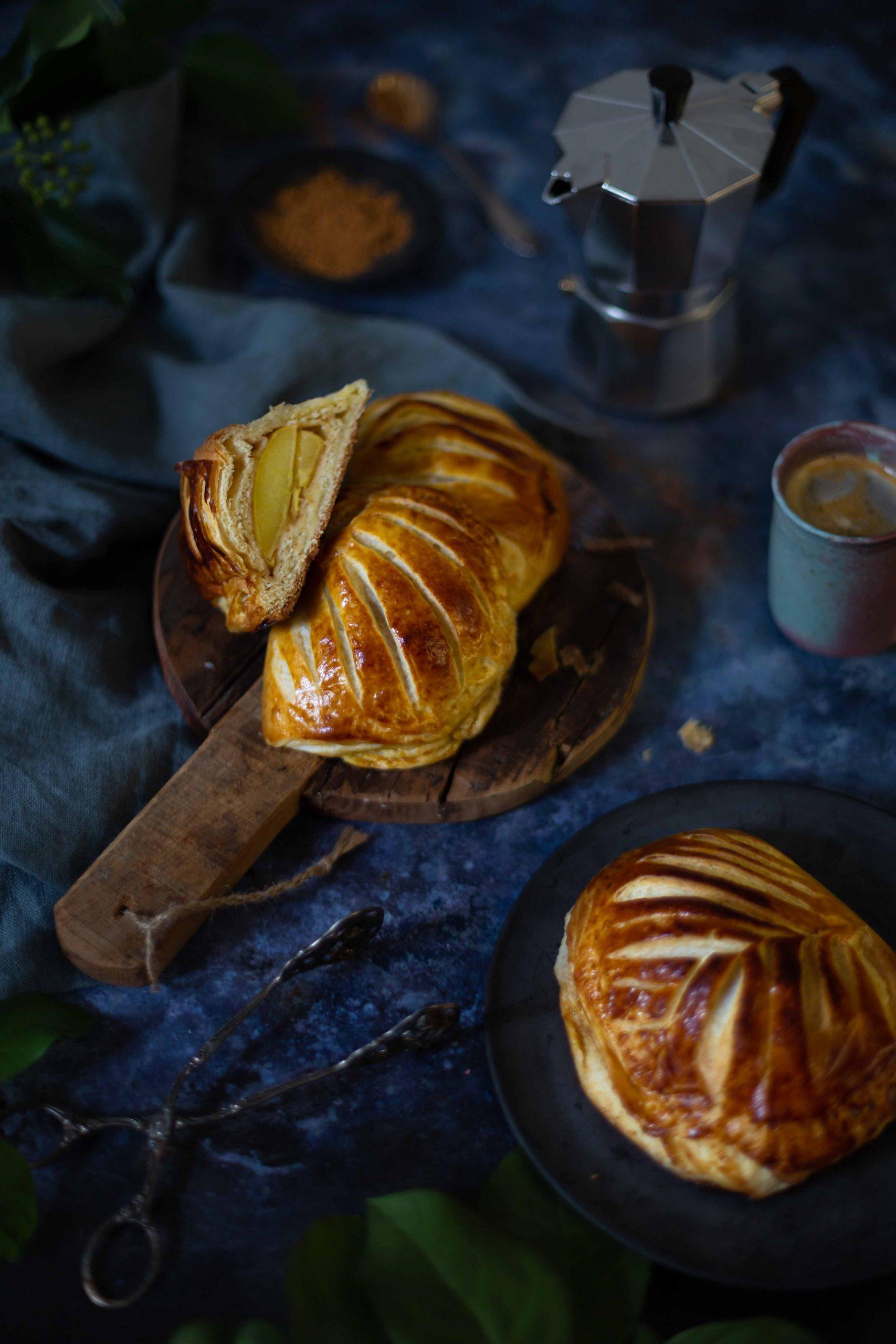 Chaussons aux Pommes à la Cedric Grolet | Französische Apfeltaschen aus Croissantteig (Buchrezension) | Rezept
