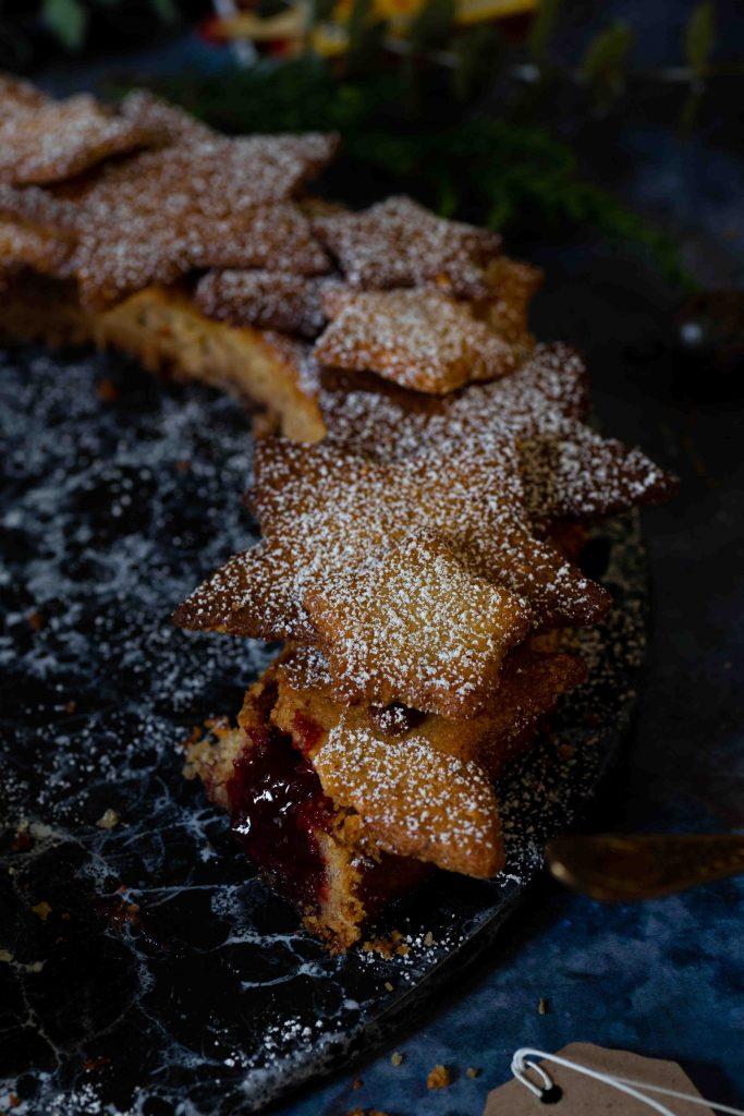 Linzer Kranz | Linzer Torte als Weihnachtskranz | Rezept