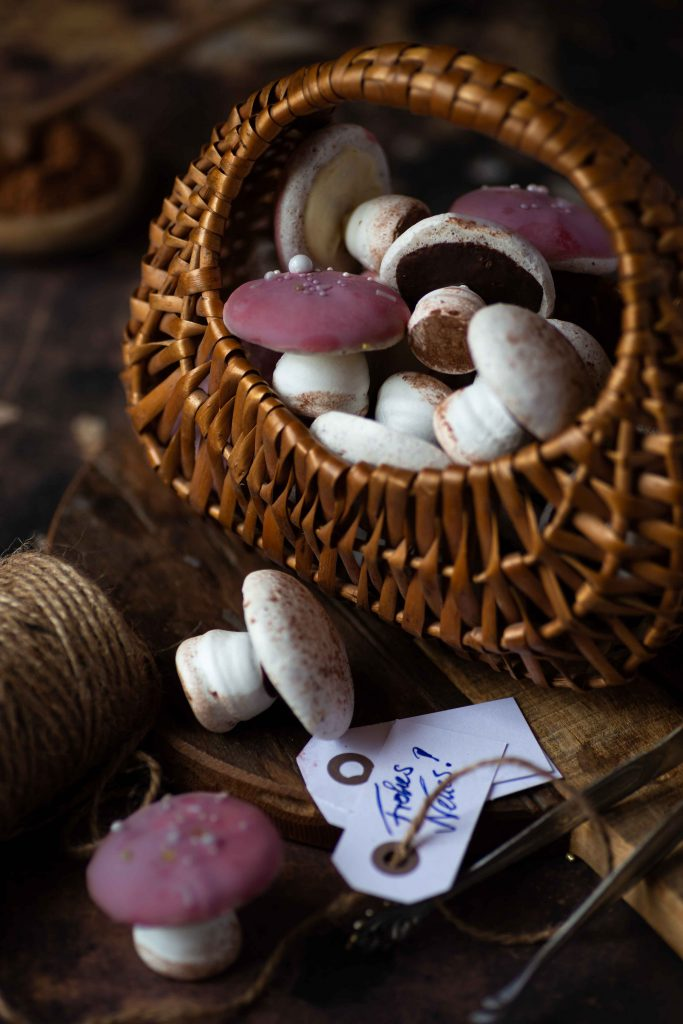Baiser Pilze | Silvester Glückspilze zum Verschenken | Rezept