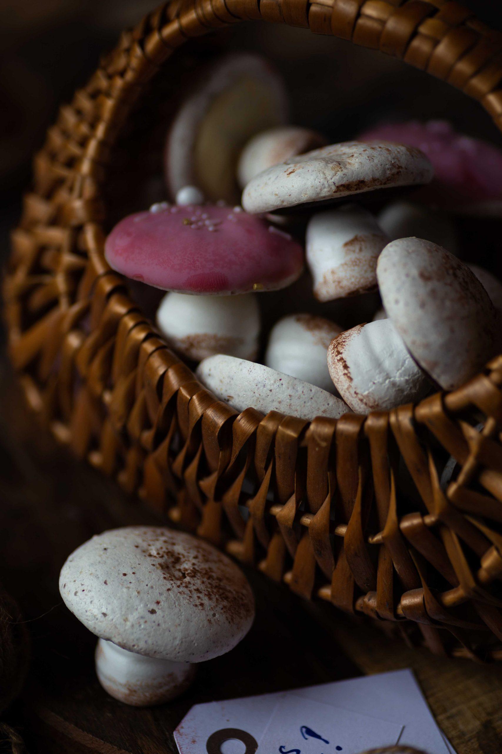 Baiser Pilze   Silvester Glückspilze zum Verschenken   Rezept