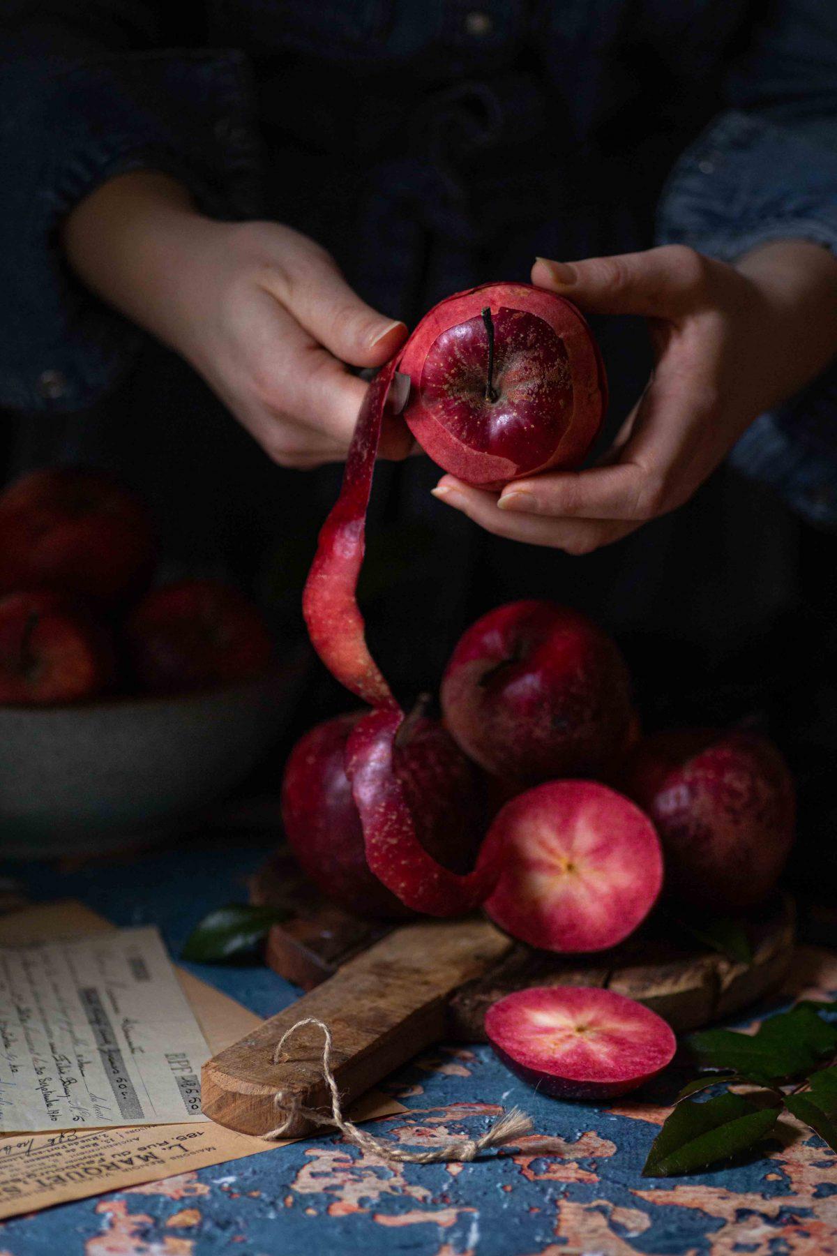 Apfelpfannkuchen mit Hefe