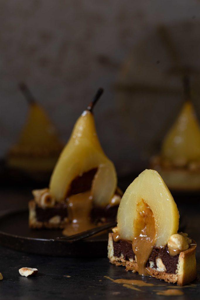 Birnen-Haselnuss-Törtchen mit Karamell   Rezept