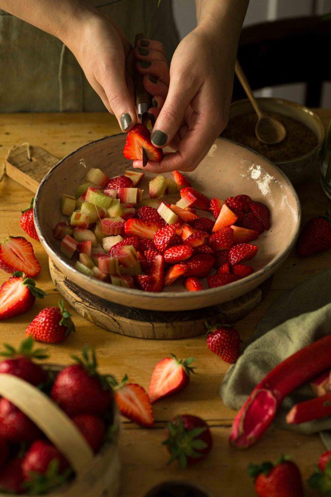 Erdbeer-Rhabarber-Pies | Rezept